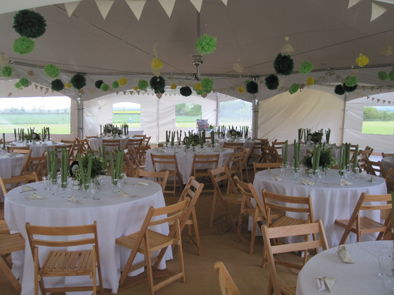 Milton Marquees - Inside a Chinese Hat Marquee